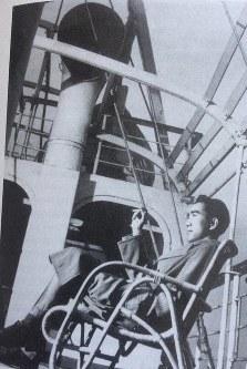 Yukio Mishima, having embarked on his first round-the-world trip.