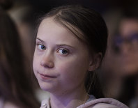 Swedish environmental activist Greta Thunberg attends the World Economic Forum in Davos, Switzerland, on Jan. 21, 2020. (AP Photo/Michael Probst)