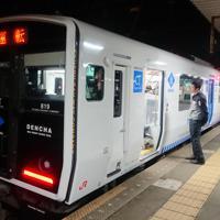 JR九州が進める自動運転の試験車両=福岡市で2019年12月28日午前2時7分、浅川大樹撮影