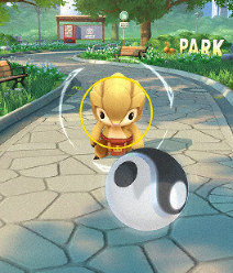 A screenshot of a Chinese location-based game developed by Tencent Holdings Ltd. known as