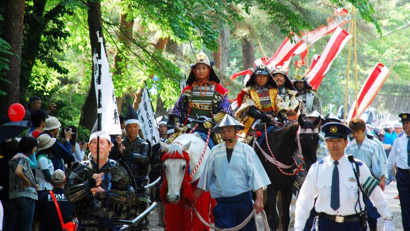「亀岡光秀まつり」の武者行列=京都府亀岡市で2008年5月(同市提供)