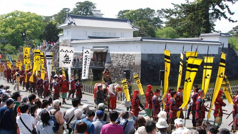 北條五代祭り=小田原市で2015年5月3日、澤晴夫撮影