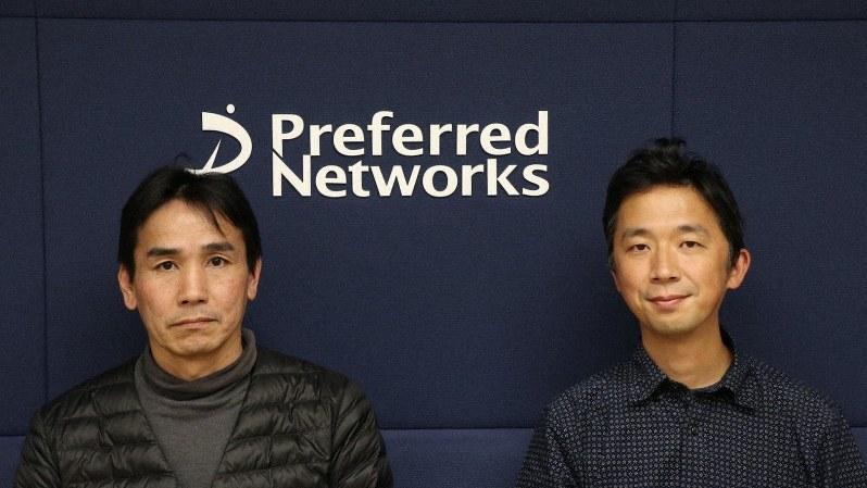 プリファードネットワークスのシニアエンジニアの名村健氏(左)と執行役員の土井裕介氏