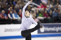 Nathan Chen performs during the senior men's short program at the U.S. Figure Skating Championships, on Jan. 25, 2020, in Greensboro, N.C. (AP Photo/Lynn Hey)