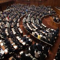 2019年度補正予算案が与党などの賛成多数で可決された衆院本会議=国会内で2020年1月28日午後7時28分、川田雅浩撮影