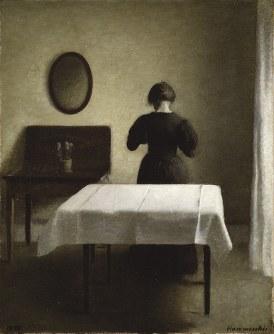 ヴィルヘルム・ハマスホイ 《室内》 1898年 スウェーデン国立美術館蔵 Nationalmuseum, Stockholm Photo: Nationalmuseum