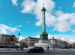新型コロナウイルスによる肺炎の発生が明らかになる数日前のバスティーユ広場=筆者撮影