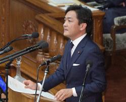 衆院本会議で代表質問をする国民民主党の玉木雄一郎代表=国会内で2020年1月22日午後3時15分、川田雅浩撮影