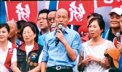 わずか1年で状況が逆転した韓国瑜・高雄市長(中央)(筆者撮影)