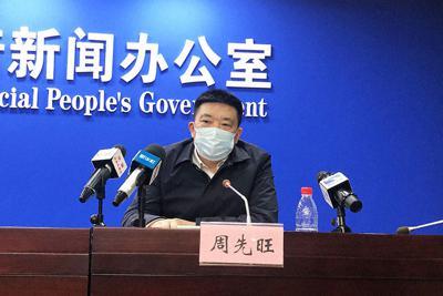 1月26日の記者会見で質問に答える周先旺・武漢市長=武漢市公式ホームページから