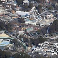 段階的な閉園を検討していることが判明した遊園地「としまえん」=東京都練馬区で2020年2月3日、本社ヘリから