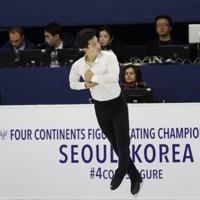 【4大陸フィギュア】男子フリーで演技するマイカ・カイ・リネット(タイ)=韓国・ソウルで2020年2月9日、AP