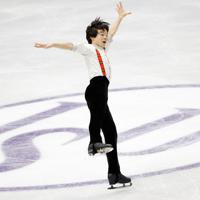 【4大陸フィギュア】男子フリーで演技する鍵山優真=韓国・ソウルで2020年2月9日、ロイター