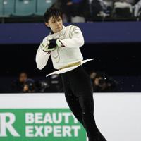 【4大陸フィギュア】男子フリーで演技する羽生結弦=韓国・ソウルで2020年2月9日、AP