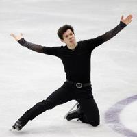 【4大陸フィギュア】男子フリーで演技するキーガン・メッシング(カナダ)=韓国・ソウルで2020年2月9日、ロイター