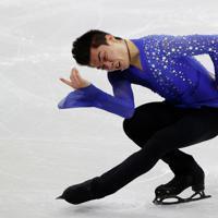 【4大陸フィギュア】男子フリーで演技するカムデン・プルキネン(米国)=韓国・ソウルで2020年2月9日、ロイター