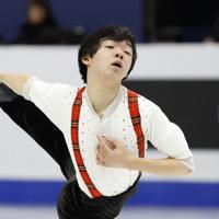 【4大陸フィギュア】男子フリーで演技する鍵山優真=韓国・ソウルで2020年2月9日、AP