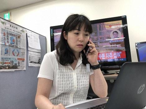 渋江千春記者