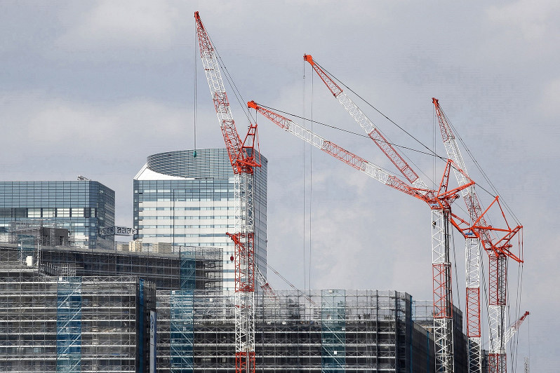 建設工事は天候などさまざまな不確定要因がある……(Bloomberg)