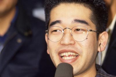 「どんなときも。」の作詞・作曲者、槇原敬之さん=兵庫県西宮市の阪神甲子園球場で1992年3月27日撮影