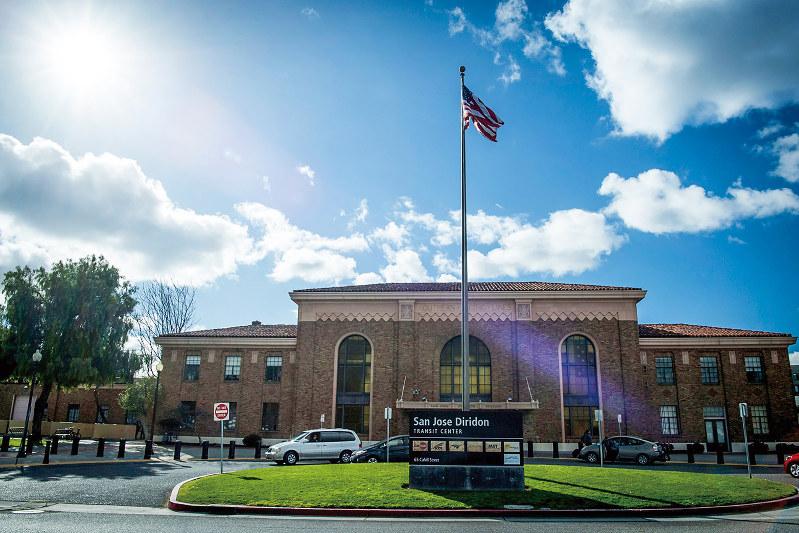 ビレッジ構想開発の中心地となるサンノゼ・ディリドン駅(Bloomberg)