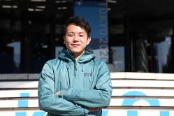 Youth Earthtainment Japan 共同代表の桑原慧さん=岡本同世撮影