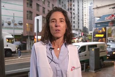 国境なき医師団のメンバーで看護師のカリン・ハスターさん=国境なき医師団提供