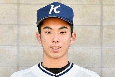 西川拓実選手(2年)=倉敷市新田の倉敷商野球部グラウンドで、小松雄介撮影