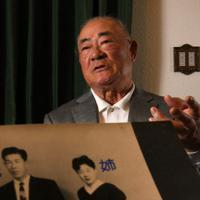 家族について語る張本勲さん=東京都内で2020年1月13日、山田尚弘撮影