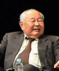 Masutane Hamada is seen speaking at a forum in Tsu, Mie Prefecture, on Nov. 26, 2013. (Mainichi/Yukako Ono)