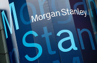 In this Oct. 18, 2011, file photo, the Morgan Stanley logo is displayed on its Times Square building, in New York. (AP Photo/Mark Lennihan)