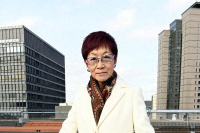 長谷川眞理子氏=東京都千代田区で2019年1月17日、根岸基弘撮影