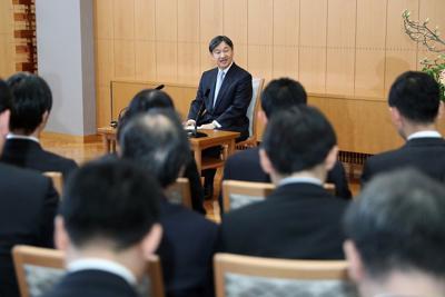 60歳の誕生日を前に記者会見される天皇陛下=赤坂御所で2020年2月21日(代表撮影)