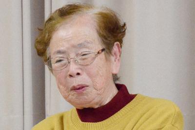 被爆体験を振り返り、判決への思いを語る高井ツタヱさん=名古屋市緑区で