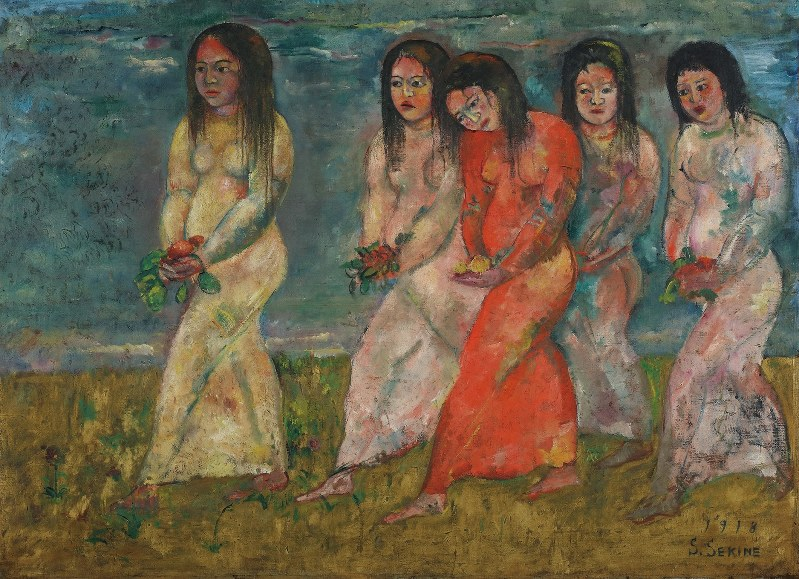 《信仰の悲しみ》1918年 油彩、カンヴァス 大原美術館蔵 重要文化財