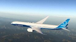 米西部ワシントン州で初飛行に成功したボーイングの新型旅客機「777-9」=ボーイングのホームページから
