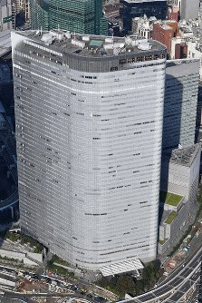 The head office of Dentsu Inc. is seen in Tokyo's Minato Ward. (Mainichi/Kaho Kitayama)