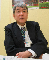 Michihiro Nishida, the head of the Saitama public health center, is seen in the city of Saitama on Feb. 25, 2020. (Mainichi/Shoko Washizu)