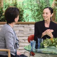 「サワコの朝」に登場する森下洋子さん(右)=MBS提供