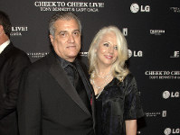 This July 28, 2014 file photo shows Joe Germanotta, left, and Cynthia Germanotta at a Tony Bennett and Lady Gaga concert taping in New York. (Photo by Andy Kropa/Invision/AP)