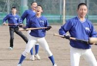 トレーニングに励む磐城の選手たち=福島県いわき市で2020年1月25日、宮武祐希撮影