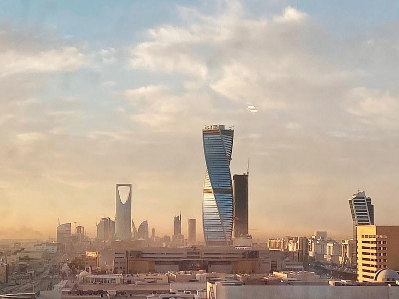 首都のリヤドでも、大規模な開発計画が進んでいる=2020年2月 (筆者撮影)