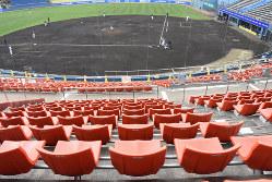 無観客で実施されたプロ野球(ソフトバンク―西部の練習試合)