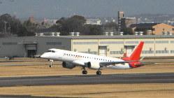 県営名古屋空港を離陸するスペースジェット=2020年3月18日
