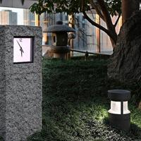 大阪ステーションシティーの「和らぎの庭」にある「石の時計」=大阪市北区で、山田尚弘撮影