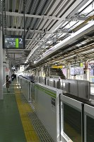 A newly opened platform is seen at JR Harajuku Station in Tokyo's Shibuya Ward on March 21, 2020. (Mainichi/Tatsuya Fujii)