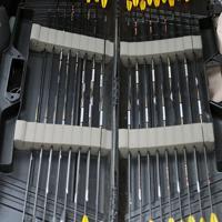 仲喜嗣さんが使用しているカーボン製の矢=奈良県桜井市で2020年2月15日、幾島健太郎撮影