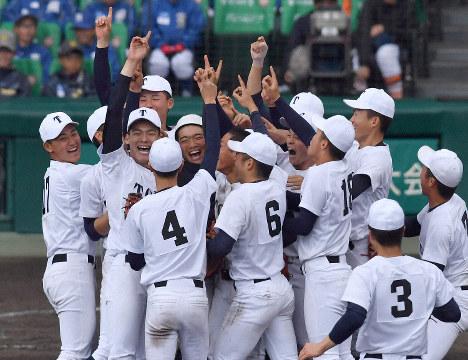 第91回大会で優勝した東邦。平成最初と最後の大会を制した。
