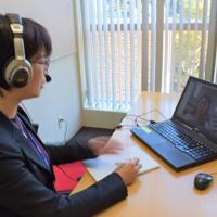 担当キャリアカウンセラーとのウェブ相談システムを利用する学生