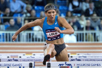 In this Feb. 3, 2018, file photo, Lolo Jones, of the United States, competes in the Howard Schmertz women's 60-meter hurdles at the Millrose Games track and field meet in New York. (AP Photo/Craig Ruttle)